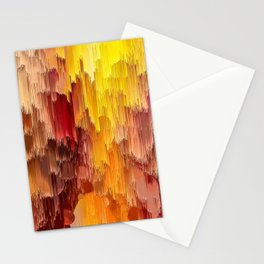 Sun Kissed Hidden Bubble Art Abstract Stationery Cards