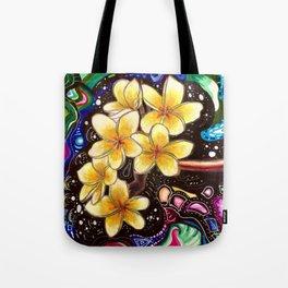 Yellow Plumerias Tote Bag