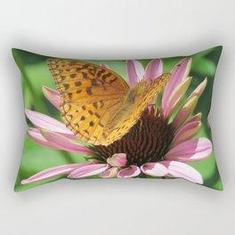 Butterfly on Cone Flower Rectangular Pillow