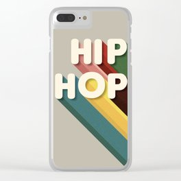 HIP HOP - typography Clear iPhone Case