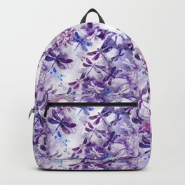Dragonfly Lullaby in Pantone Ultraviolet Purple Backpack
