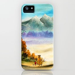 Calvin And Hobbes Look To The Something iPhone Case