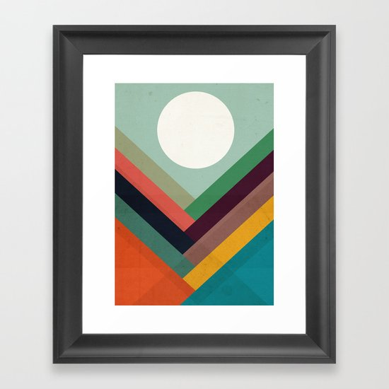 Rows of valleys Framed Art Print