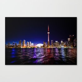 The city of lights Canvas Print