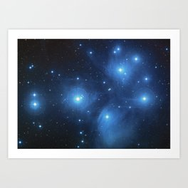 Taurus Constellation, Pleiades star cluster Art Print