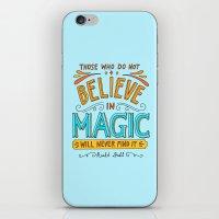 roald dahl iPhone & iPod Skins featuring Believe in Magic by Ella Lama