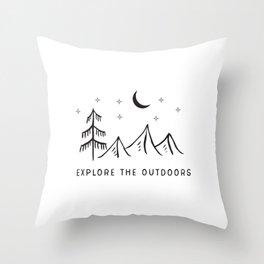 Explore The Outdooors Throw Pillow