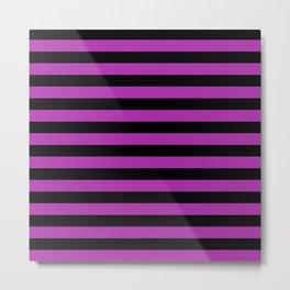 Stripes (Black & Purple Pattern) Metal Print