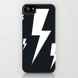 Lightning bolts iPhone Case