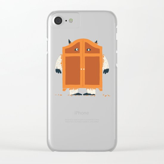 Monster in the closet Clear iPhone Case