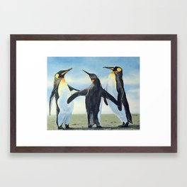 Gossip Happy Feet Family Penguins  Framed Art Print