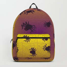Crawling black spiders Backpack