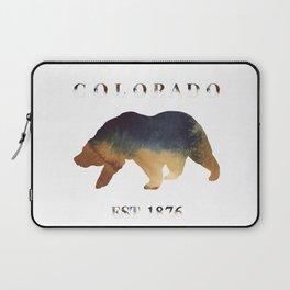 Watercolor Bear Colorado Established 1876 Laptop Sleeve