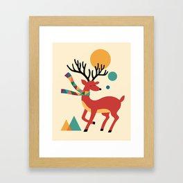 Deer Autumn Framed Art Print