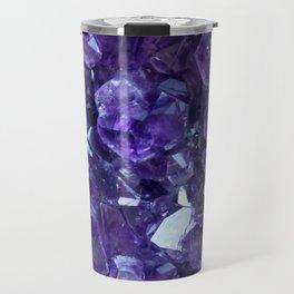 Raw Amethyst - Crystal Cluster Travel Mug