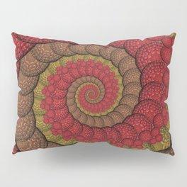 Red and Orange Hippie Fractal Pattern Pillow Sham
