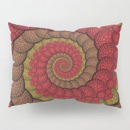 Red and Orange Hippie Fractal Pattern Pillow Sham