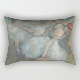 Ballet Dancers by Hilaire-Germain-Edgar Degas Rectangular Pillow