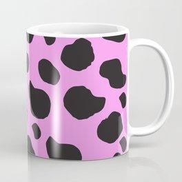 Animal Print (Cow Print), Cow Spots - Pink Black Coffee Mug