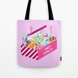 Party Donuts Tote Bag