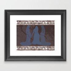 Mediæval Swordswoman Framed Art Print