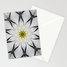 White Flower Design Stationery Cards