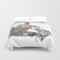 canada Duvet Covers featuring Canada by minouette