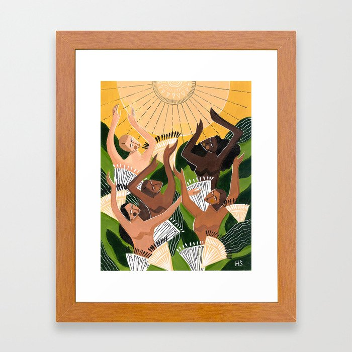 And then we saw the sun Framed Art Print