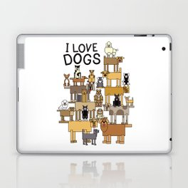 I Love Dogs Laptop & iPad Skin