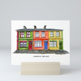 LIMERICK IRELAND ROW HOUSE TOWNHOUSE Mini Art Print