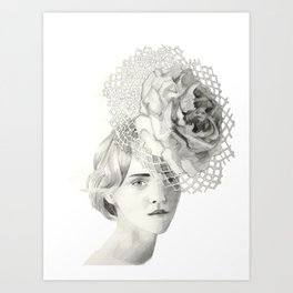 Emma in Bloom Art Print