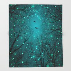 One by One, the Infinite Stars Blossomed Throw Blanket