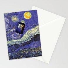 VAN GOGH STARRY NIGHT TARDIS Stationery Cards