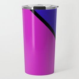 Abstract red and blue Travel Mug