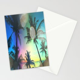 Summer Dreams : Pastel Palm Trees Stationery Cards
