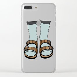 Birkenstocks Clear iPhone Case