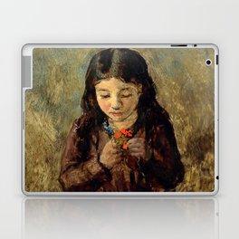 "John Everett Millais ""Florence 'Pobby' Thomas, kneeling and holding a posy of flowers"" Laptop & iPad Skin"