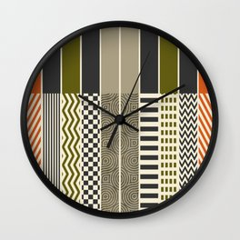 Patterns - Color Wall Clock