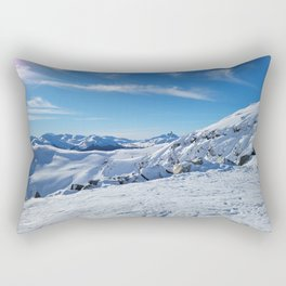 Play of light on mountains snow Rectangular Pillow