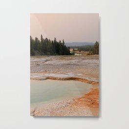 Yellowstone Evening Metal Print