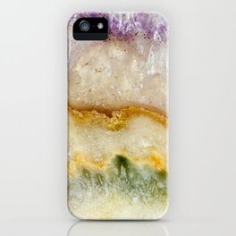 Striated Amethyst in Purple Gold & Green iPhone Case