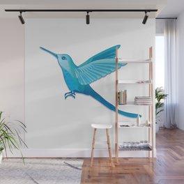 Blue hummingbird colibri Wall Mural