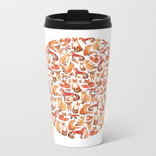Fox Circle. Metal Travel Mug