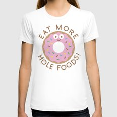 Do's and Donuts MEDIUM Womens Fitted Tee White