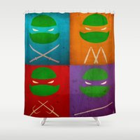 tmnt Shower Curtains featuring TMNT Collection by fabvalle