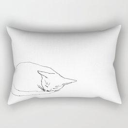 Cat in sleep #1 Rectangular Pillow