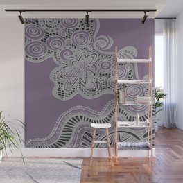 Just a Squiggle Here and There - Purple Wall Mural