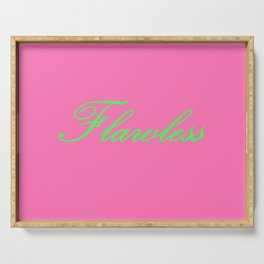 Flawless Pink & Green Serving Tray