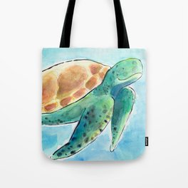 Sea Turtle Waterolour Tote Bag