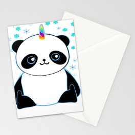 Pandacorn in the Snow Stationery Cards